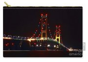 Night Lights Of The Mackinac Bridge Carry-all Pouch