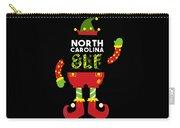 North Carolina Elf Xmas Elf Santa Helper Christmas Carry-all Pouch