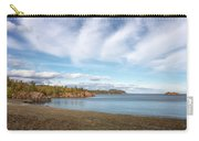 North Shore Black Beach Carry-all Pouch by Susan Rissi Tregoning