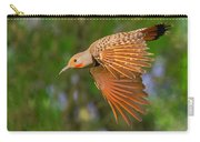 Northern Flicker In Flight Carry-all Pouch