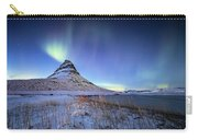 Northern Lights Atop Kirkjufell Iceland Carry-all Pouch by Nathan Bush