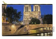 Notre Dame Cathedral Evening Carry-all Pouch by Jemmy Archer