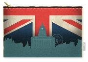 Nottingham England City Skyline Flag Carry-all Pouch