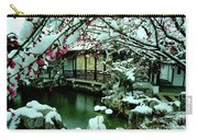 Ny Chinese Scholars Garden, Spring Snow Carry-all Pouch