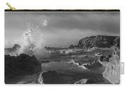 Ocean Splash In Black And White Carry-all Pouch