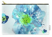 Oceanbreeze Blue-green Windflower Carry-all Pouch