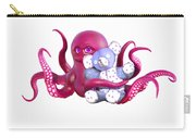 Octopus Pink With Bear Carry-all Pouch