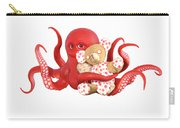 Octopus Red With Bear Carry-all Pouch