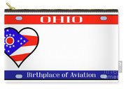 Ohio License Plate Carry-all Pouch