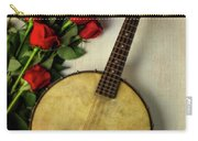 Old Banjo And Roses Carry-all Pouch