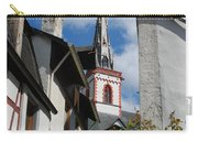 old historic church spire and houses in Ediger Germany Carry-all Pouch