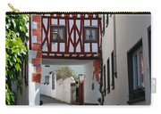old historic street and woodframed house in Ediger Germany Carry-all Pouch