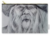 Old Man In A Hat  Carry-all Pouch