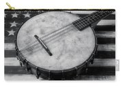 Old Mandolin Banjo In Black And White Carry-all Pouch