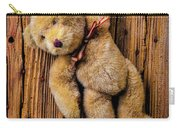 Old Teddy Bear Hanging On The Door Carry-all Pouch
