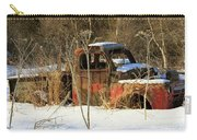 Old Truck In Winter Snow In Hope Alaska Carry-all Pouch