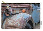 Old Vintage Blue Pickup Truck Among The Weeds Carry-all Pouch