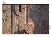 Old Wooden Door And Keyhole Carry-all Pouch