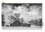 On A Winter Day Monochrome Carry-all Pouch