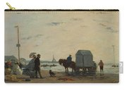 On The Beach At Trouville  Carry-all Pouch