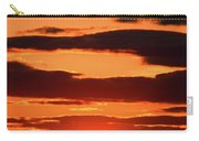 Orange And Black Carry-all Pouch