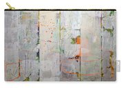 Orange Lines With Grey Carry-all Pouch by Michelle Calkins