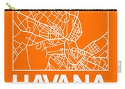 Orange Map Of Havana Carry-all Pouch
