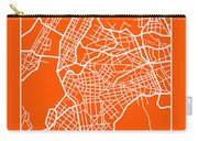 Orange Map Of New York Carry-all Pouch