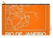 Orange Map Of Rio De Janeiro Carry-all Pouch