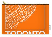 Orange Map Of Toronto Carry-all Pouch