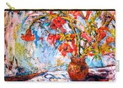 Orange Trumpet Flowers Carry-all Pouch