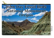 Oregon - John Day Fossil Beds National Monument Blue Basin Carry-all Pouch