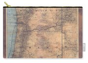 Oregon Washington Historic Map Colton Sepia Map Hand Painted Carry-all Pouch