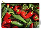 Organic Red And Green Peppers Carry-all Pouch