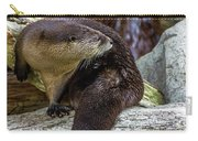 Otter Interrupted Carry-all Pouch by Kate Brown
