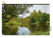 Painted Fall On The Back Pond Carry-all Pouch
