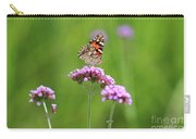Painted Lady Butterfly In Green Field Carry-all Pouch