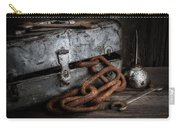Painted Toolbox And Chain Carry-all Pouch