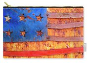 Painted Us Flag, Georgia, Usa Carry-all Pouch