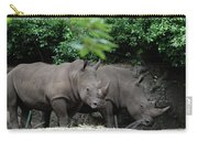 Pair Of Rhinos Standing In The Shade Of Trees Carry-all Pouch