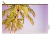 Palm Trees And Pink Sky Carry-all Pouch