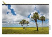 Palm Trees In The Field Of Coreopsis Carry-all Pouch