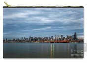 Panorama Of Seattle Skyline At Night With Storm Clouds Carry-all Pouch