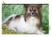 Papillon On Green Carry-all Pouch