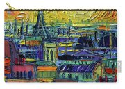 Paris Rooftops View From Centre Pompidou - Textural Impressionist Stylized Cityscape Mona Edulesco Carry-all Pouch