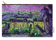Paris View With Gargoyles Diptych Oil Painting Right Panel Carry-all Pouch
