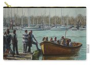 Passengers Boarding The Hamble Water Taxi In Hampshire Carry-all Pouch by Martin Davey