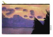 Pastel Palm Tree Sunrise Carry-all Pouch