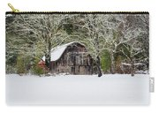 Patriotic Barn In The Snow Carry-all Pouch