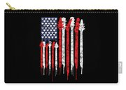 Patriotic Guitar Flag America Lovers Guitar Music Lovers Gifts Carry-all Pouch
